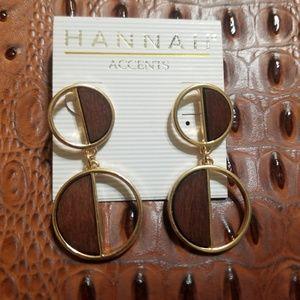 Hannah Woodgrain earrings